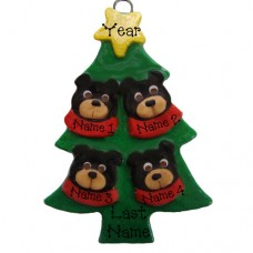 SALE*.....Black Bear in a Tree Family of 4