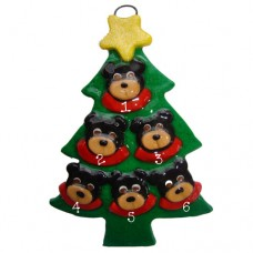 SALE*.....Black Bear in a Tree Family of 6
