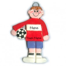 Boy Soccer Player Ornament