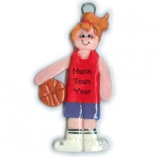 Girl Basketball Player Ornament