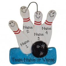 Bowling Team Ornament