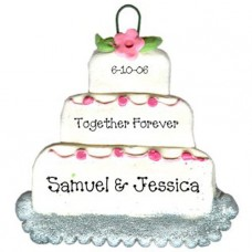 Pink Wedding Cake Ornament