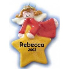Angel Holding Yellow Star Ornament