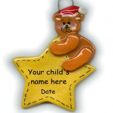 SALE*...Bear on Star Ornament