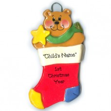 SALE*.....*Stocking Bear Ornament