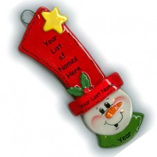 Tall Hat Snowman Ornament