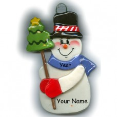 Woodland Snowman Ornament