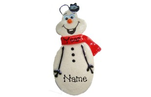 Happy Snowman Ornament